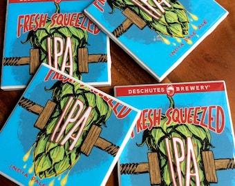 Fresh Squeezed IPA Beer Coasters