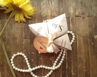Wedding, Communion, Personalized Invitation, origami style