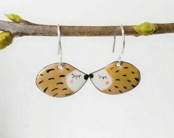 Earrings small Hedgehog