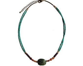 Lovely Moss Handmade Natural Stone Necklace