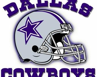 Full Color Dallas Cowboys Helmet Die Cut Decal