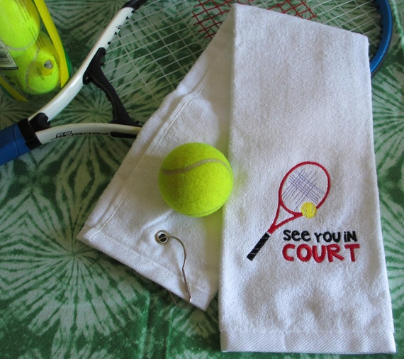 Custom Embroidered Tennis Towel See You In COURT All