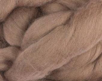Merino silk roving, Ash, 100 grams/3.5 oz
