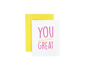 You Are Just Great