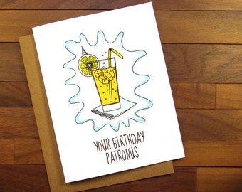 Funny Birthday Card - Harry Potter Birthday Card - Your Birthday Patronus - Happy Birthday Harry Potter