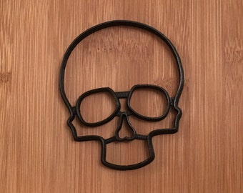 Skull Halloween Cookie Cutter,Scary,Skeleton,Party,Fall,October,Custom,Neat,Odd,emboss,Impression,Baking,Cooking,Day of the Dead