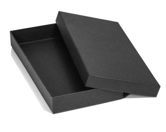 Luxury Black or White Gift Box with Lid Small Recycled Presentation Keepsake Box