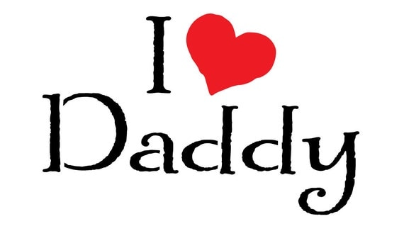 I love daddy instant download for transfer print or pattern - I love you daddy download ...