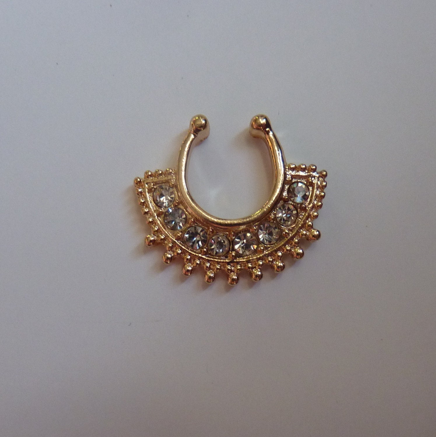 gold septum ring nose ring gold by