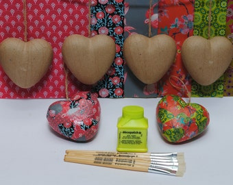 Decopatch Heart Party Multi Kit for 6 - includes everything you need