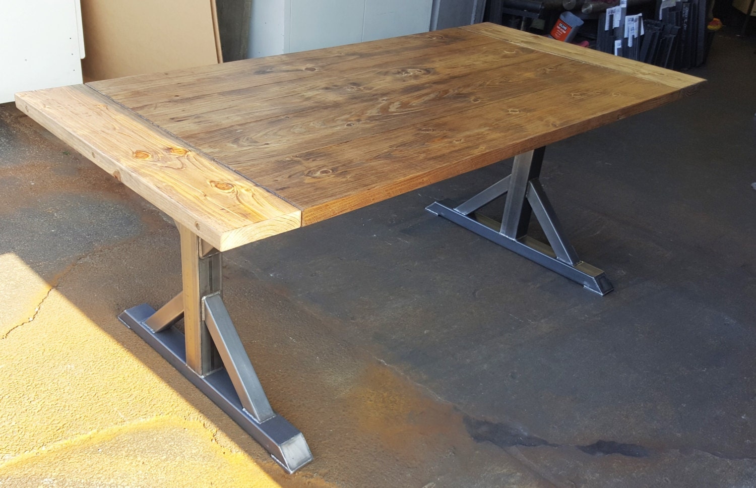 Trestle table legs model tr10 heavy duty sturdy metal for How to make a sturdy table base