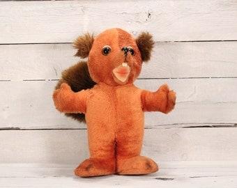 Vintage 80s Squirrel Stuffed Animal Plush Toy Vintage Stuffed Animal Toy Toys Animal Fair Childs Toy Collectible EU Seller
