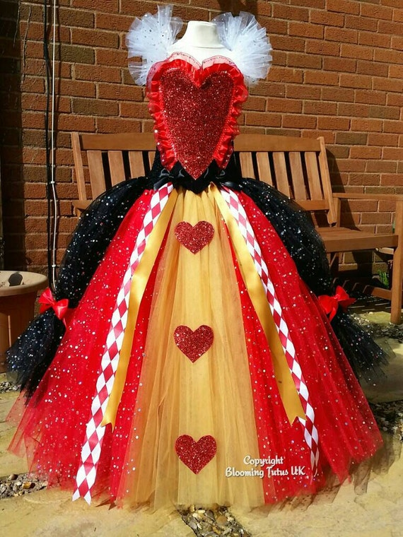 Queen of hearts inspired super sparkly tutu by bloomingtutusuk Replica designer clothes uk
