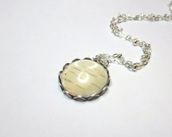 Birch necklace - Real Birch post  -  Bark  jewelry -Woodland Necklace -Birch Tree earrings - Bark bracelet