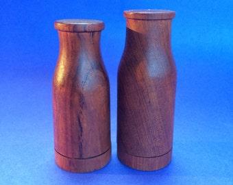 Vintage Danish Teak Wood Milk Jug Salt and Pepper Shakers