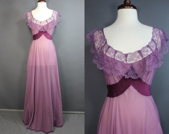 50's Plum Nightgown