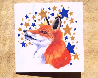Fox and Star Greeting card