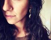 Swarovski crystal Indian nose ring. Septum. Handmade. Gift. Women. Jewelry. Gold. Nose hoop. Bohemian.Stone. Crystal. Statement Ring