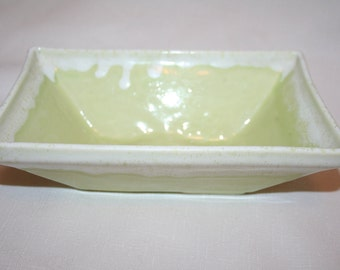 Vintage Green Ceramic Planter by UP CO