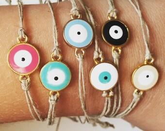 Evil Eye Hemp Bracelet