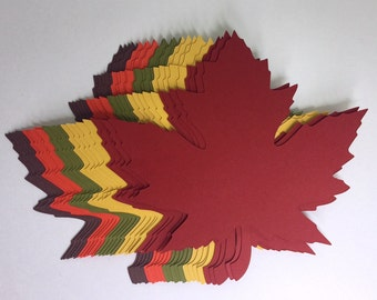 "4 inch Large Fall Maple Leaves Die Cuts (4.2""x4.3"") Gift Tags Scrapbooking Card embellishment Leave Punches set of 20"
