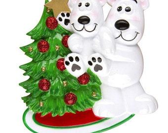 Personalized Polar Bear Ornament