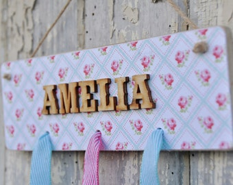 Hair Pretties Plaque - Perfect place to store hair clips.