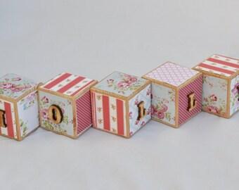 Personalised Children's Blocks - Girl Theme
