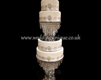 Crystal wedding cake stand, chandelier cake stand, diamante cake stand, glass crystal