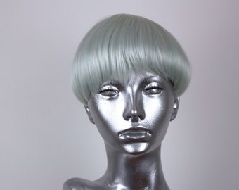 Clip on Bangs- Iced Mint