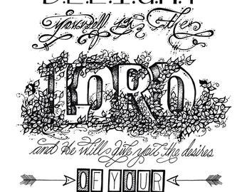 A4 Psalm 37:4 Print