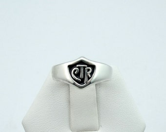 Vintage Sterling Silver CTR Shield Ring #CTRSGSS-L