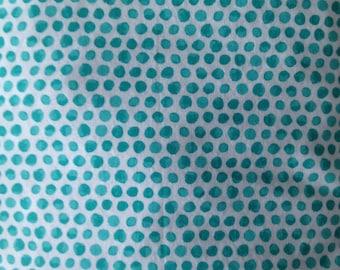 Baby Crib Sheet or Toddler Bed Sheet - Teal & Turquoise Dots