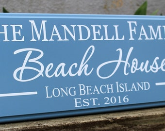 Personalized beach house sign, beach house decor, beach sign, beach cottage custom beach theme, shore house decor coastal, beach house gift