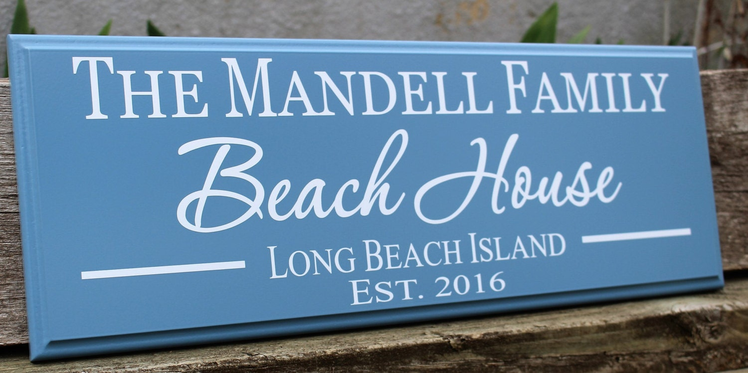 Personalized beach house sign beach house decor beach for Custom beach house