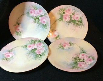 Classic BAVARIA hand-painted Rose Plate