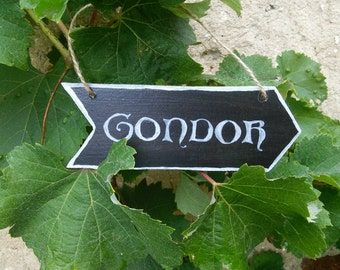 Mini arrow Lord of the rings / / banner of Gondor tree / / wall Decoration