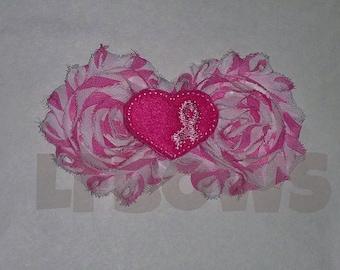 Pink Breast Cancer Awareness Shabby Feltie