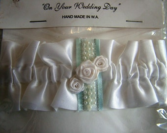 Something borrowed, something blue - wedding garter