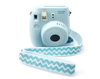 Polaroid Camera Strap Fujifilm Instax Mini Camera Strap Blue Wave Adjustable Length