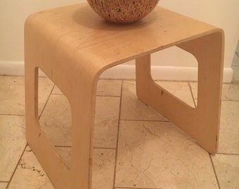 Vintage mid century Danish modern bent plywood table