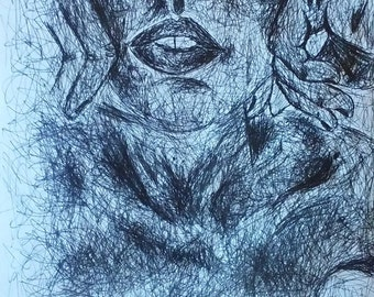PetraBaye Original - 10x8 Pen drawing no.17