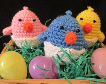 Hatching Easter Chick plushie