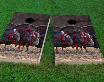 Turkey Hunting Themed 2x4 Custom Cornhole Board Set with bags | Custom Corn Hole | Bag Toss | Corn Toss | Bean Bag Toss