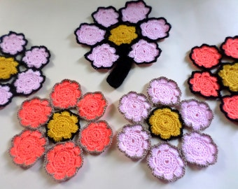 Flower Coasters, Crocheted Coasters, Flower Decor, Drink Coasters, Mug Mats, Glass Mats, Drink Mats, Table Decor