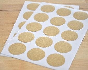 Kraft paper sticker round 25 mm