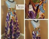 Maxi Skirt| Ankara Print ADARA MAXI SKIRT with Pockets | Kitenge Maxi Skirt