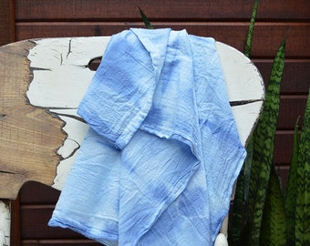 Hand Dyed Cotton Tea Towels – Set of 2 - One Shibori-style And One Dip-dyed.