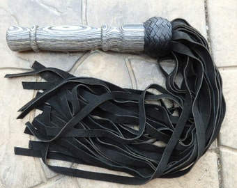 THUDDY Leather Flogger Cat Of 9 TAILS NEW w/ Suede Leather Tails Falls