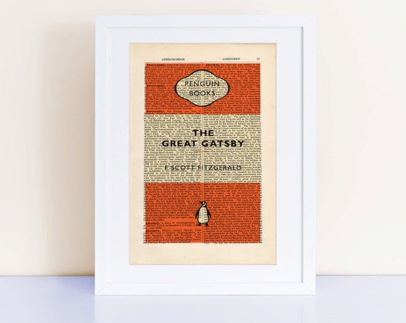 The Great Gatsby Print On An Antique Page Home Decor Popular